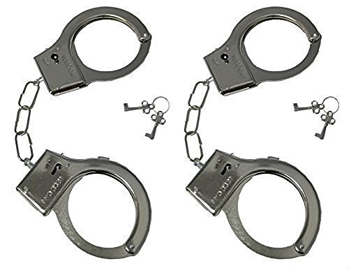 2 Pack Police Metal Handcuffs with Keys, Swat Role - Play Toy JBK Products