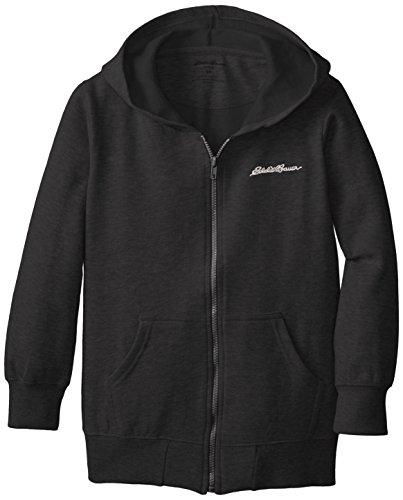 Eddie Bauer Big Boys' Fleece Hoodie (More Styles Available), Black-WSCH, (Fleece Boys Zip Hooded Jacket)