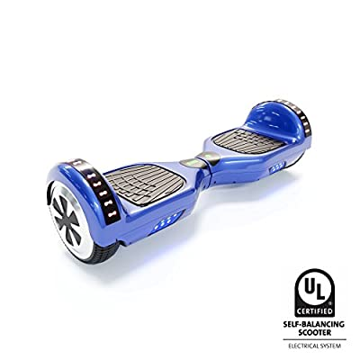 CXInWalk Hoverboard Self Balancing Scooter UL 2272 Certified with Powerful Bluetooth Speaker, Cool LED Lights and Free Portable Carrying Bag (Royal Blue)