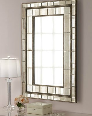 Gorgeous Extra Large Layered Wall Mirror Tiled Frame