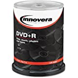 Innovera 46891 DVD+R 4.7GB 16X Discs with Spindle, Silver, 100 per Pack