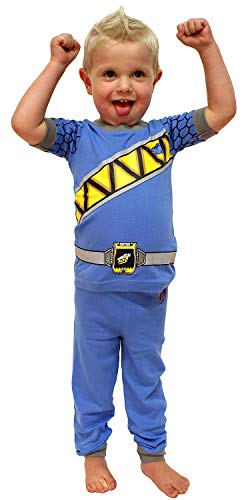 (INTIMO Toddler Mighty Morphin Power Rangers Costume Pajama Set (Dino Blue,)
