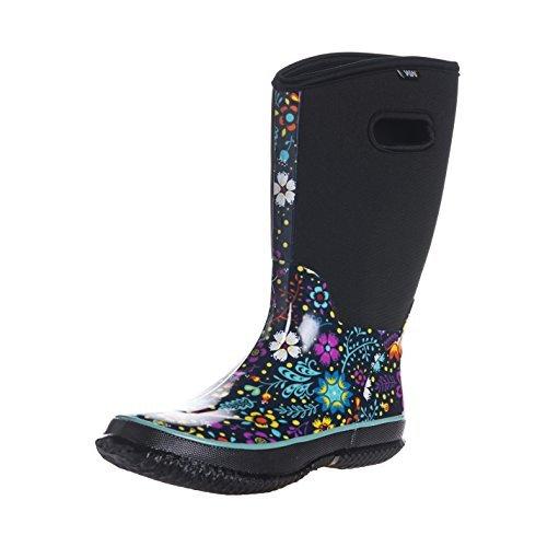 Fuyang Women's Snow Rain Boots Winnter Protection up to -22 Fahrenheit (Size 8)