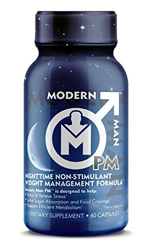 Modern Man PM Fat Burner Sleep Aid, Weight Loss & Testosterone Booster for Men, Best Night Time Metabolism Booster & Caffeine Free Sleep Supplement | Burn Belly Fat & Build Lean Muscle, 60 Pills