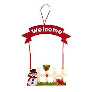 Amazon.com: Adornos para puerta de árbol de Navidad con ...