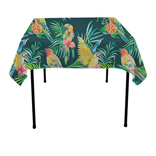 GOAEACH Table Cloths, Waterproof Wrinkle Free Parrot On