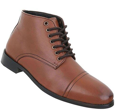 Herren Schuhe Business-schuhe Used Optik Leder Schnürer Camel