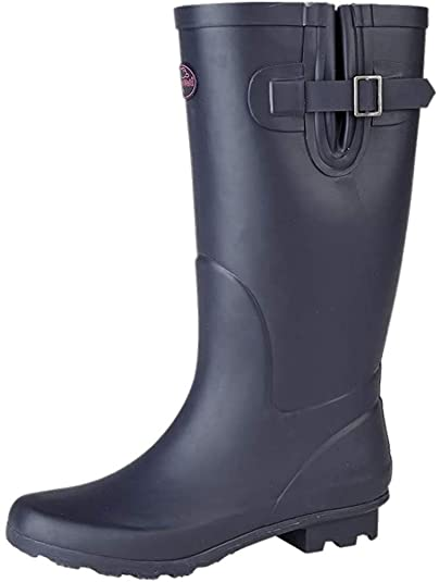 Ladies FreeStep Memory Foam Rubber Outdoor Wellies Wellington Boots Sizes 4-8