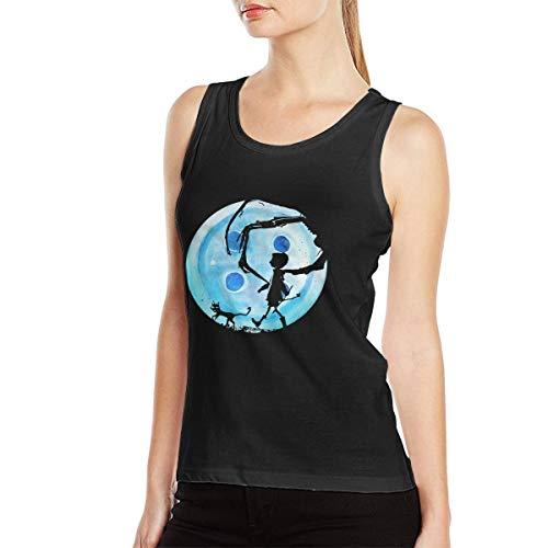 Coraline Blue Full Moon Nightmare Cat Halloween Horror Women Soft Sleeveless Vestidos De Mujer -