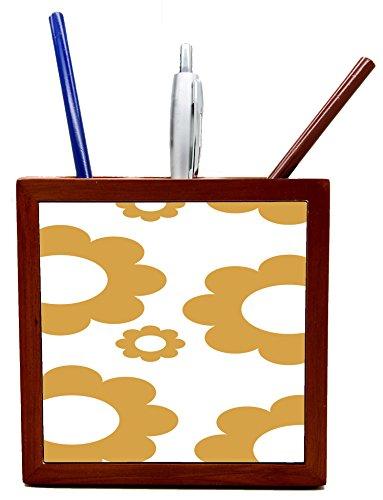 Pencil Cup Colorful Gears Tile Wooden Tile Pen Holder