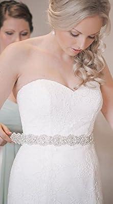 Bridal Sash Belt Wedding Dress Sash Belt Rhinestone Wedding Sash Belt Rhinestone Sash Belt Ivory Ribbon
