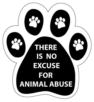 There Excuse Animal Abuse magnet