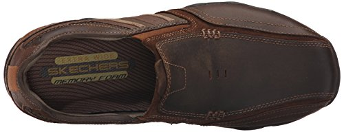 Skechers Heren Diameter-zinroy Slip-on Loafer Donkerbruin
