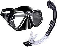 Snorkel Mask Set, Anti-Fog and Anti-Leak Design, Snorkeling Set with Diving Mask & Dry Snorkel, Scuba Divi