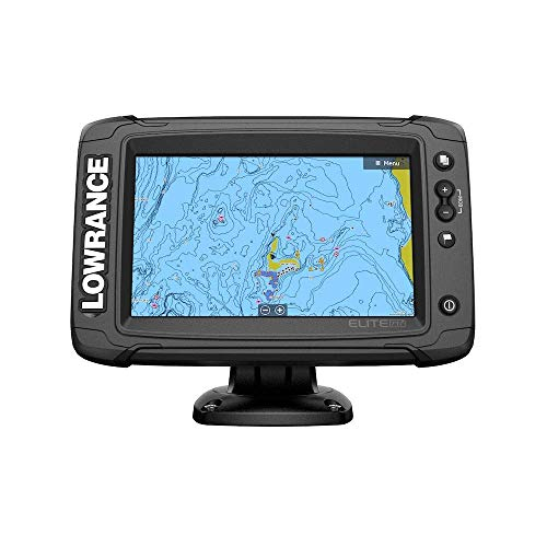 Lowrance Elite-7 Ti2 Fishfinder/Chartplotter Combo with Active Imaging 3-in-1 Transom Mount Transducer & US/Canada Nav+ Chart ()