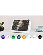 "Introducing Echo Show 8 - HD 8"" smart display with Alexa - Sandstone Fabric"