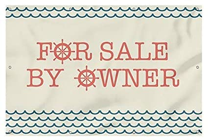 for Sale by Owner Nautical Wave Heavy-Duty Outdoor Vinyl Banner 9x6 CGSignLab
