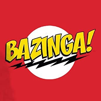official t shirt big bang theory red bazinga sheldon m amazon co uk rh amazon co uk logotyp bazinga Sheldon Cooper Bazinga