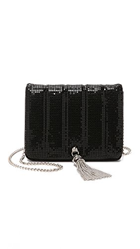 Whiting & Davis Women's Quilted Tassel Bag, Black, One Size by Whiting & Davis