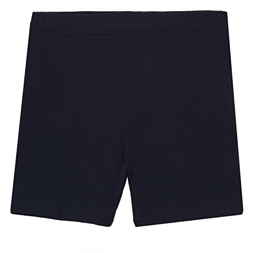 - French Toast School Uniform Girls Kick Shorts, Navy, Medium (7/8)