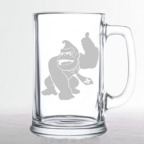 Donkey Kong - Etched Beer - Diddy Glasses