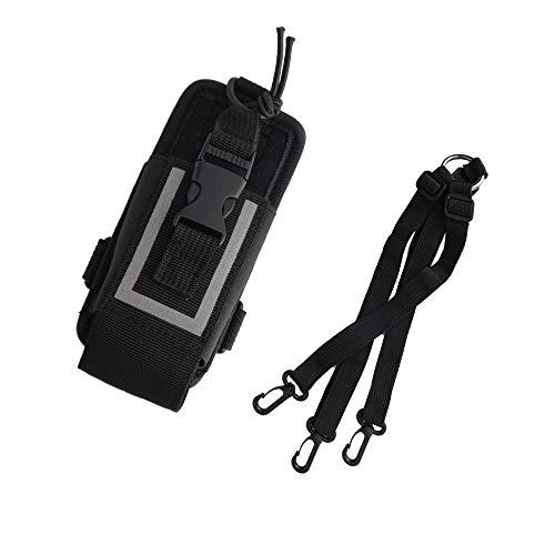 Saigain Nylon Radio Holder Case Duty Belt Shoulder Police Holster Pouch Bag for Motorola GPS Kenwood Yaesu Icom baofeng UV5R UV82 TYT UV5RA HYT 888S Retevis H777 Two Way Radio Walkie Talkie