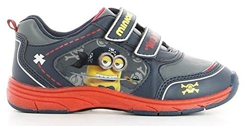 Minions - Scarpe da Ginnastica Sneakers Basse Doppio Stretch - Bambino - Autunno/Inverno - Novità Prodotto Ufficiale DE000430