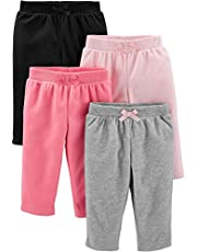 Simple Joys by Carter's Baby-Girls 4-Pack Fleece Pants