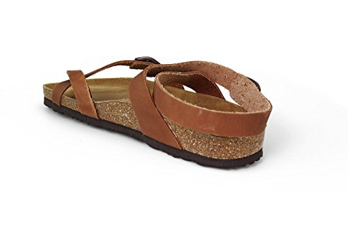 JOE N JOYCE Yana Leather Oiled Sandals Narrow Nature HvQAdxlpF