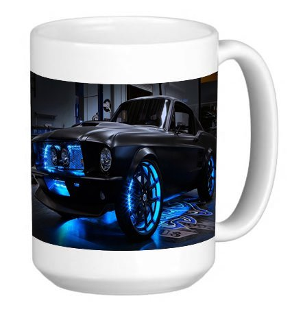 Mustang 15 Ounce Ceramic Coffee Mug Tea Cup (Mustang 15 Ounce Mug)