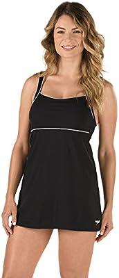 676ccce7667 Amazon.com  Speedo Women s Aquatic Endurance+ Piped Sheath Dress ...