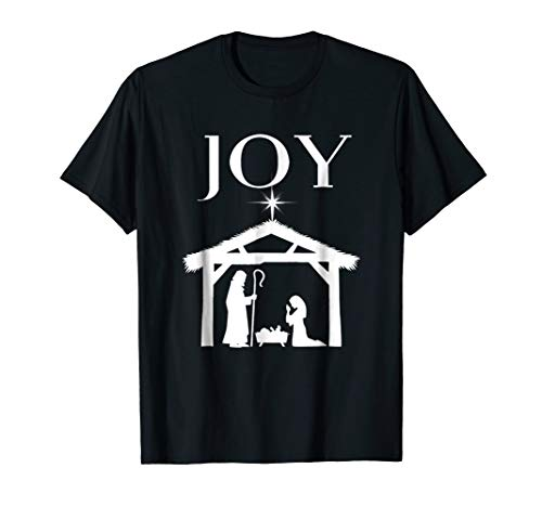 Christian Christmas Joy Shirt Nativity Scence Star