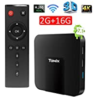 Edal Tanix Android 7.1 smart Tv Box 2G/16G Amlogic 4K HD WiFi Latest Smart TV BOX