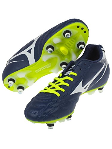 Monarcida Neo Mix SG Football Boots - Blue Depths/White/Safety Yellow Bleu marine / bleu nuit L9UeueHM