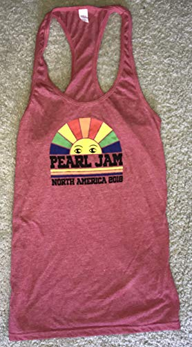 Pearl Jam t shirt tank top ladies boston chicago seattle medium 2018 tour racerback style womens new by Inkster...
