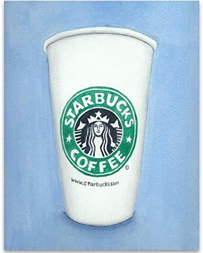 Starbucks Watercolor - 11x14 Unframed Art Print - Great Gift to Starbucks Lovers, Also Makes a Great Gift Under $15 ()