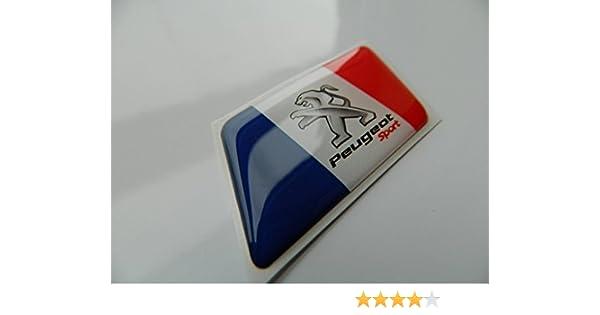 Emblema Sport con bandera francesa para Peugeot 5008, 307, 206, 607: Amazon.es: Coche y moto