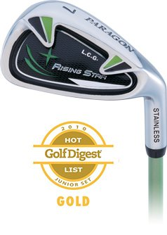 Paragon Rising Star Kids Junior Dual Wedge Ages 8-10 Green / Left-Hand