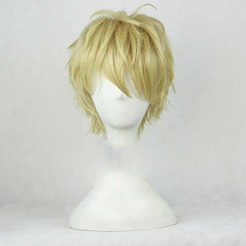 Hetalia England Halloween Cosplay (Coslive One Punch Man Genos Cosplay Short Curly Prestyled Wig)