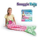 Snuggie Tails Allstar Innovations Mermaid Blanket for Kids (Pink), As Seen on TV