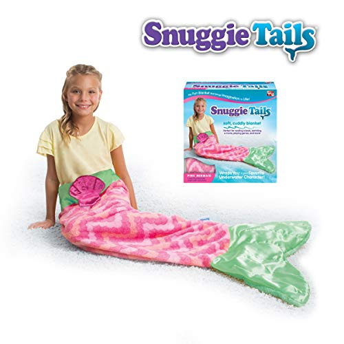 Snuggie Tails Allstar Innovations Mermaid Blanket for Kids (Pink), As Seen on TV by Snuggie Tails