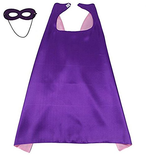 LYNDA SUTTON Superhero Capes for Kids,Purple & Pink Toddler Girl -