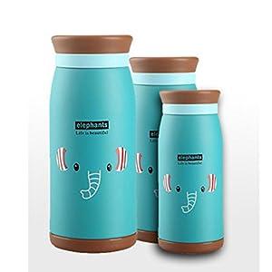 Aksautoparts Cartoon Stainless Steel Insulation Cups Insulation Glass Insulation Water Bottle Cups (500ML, Blue)