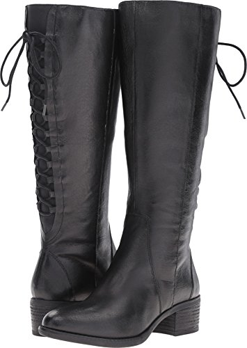 - Steve Madden Women's Laceupw Western Boot, Black Leather, 8.5 M US