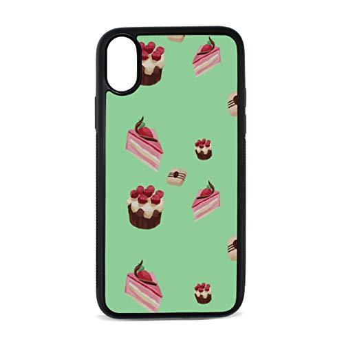 Cup Cake Dessert Snack Color Digital Print TPU Pc Pearl Plate Cover Phone Hard Case Cell Phone Accessories Compatible with Protective Apple Iphonex/xs Case 5.8 ()