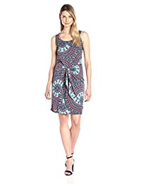 Tribal womens Milan Medallion Knot-front Dress