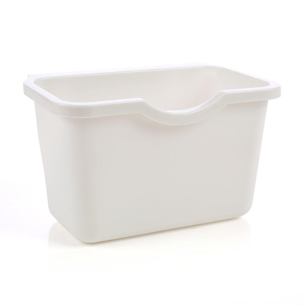 Kitchen Cabinet Door Plastic Basket Reusable Trash Barrel Container Bowls Hanging Trash Can Waste Bins Garbage Box White