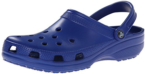 (Crocs Men's and Women's Classic Clog, Comfort Slip On Casual Water Shoe, Lightweight, Cerulean Blue, 12 US Women / 10 US Men)