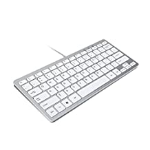 GMYLE® Ultra Thin Wired USB Mini Keyboard for Mac and PC