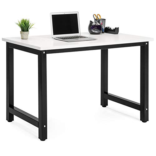 Price comparison product image Computer Desk Workstation Table Write Study Desk with Adjustable Legs Home Office Spacious Design White / Black